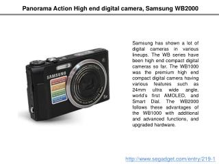 Panorama Action High End Digital Camera