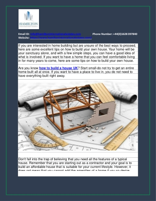 How to build your own house
