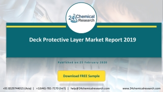 Deck Protective Layer Market Report 2019