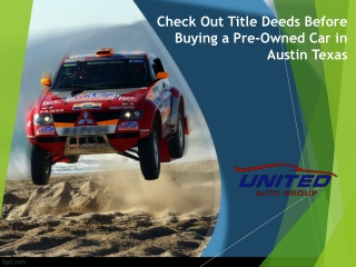 Pre Owned Cars in Austin