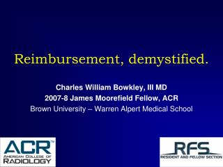 Reimbursement, demystified.