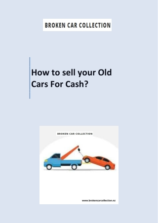 How to sell your Old Cars For Cash?