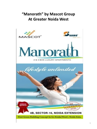 Residential Apartment Mascot Manorath