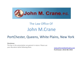 The Law Office of John M. Crane | Practice Areas