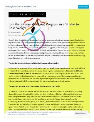 Join the Fitness Workout Program in a Studio to Lose Weight