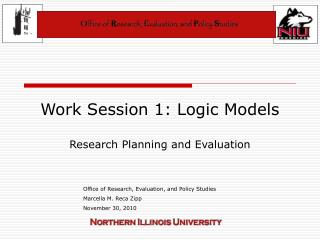 Work Session 1: Logic Models Research Planning and Evaluation