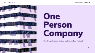One Person Company Registration in India Guide
