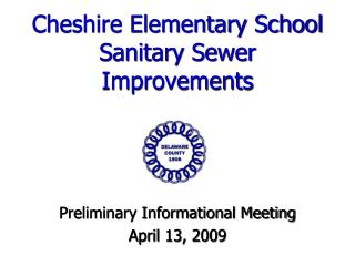 Cheshire Elementary School Sanitary Sewer Improvements