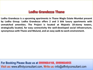 Lodha Grandezza Thane Call For Best Deal  09999684955
