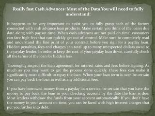 payday cash advances