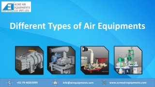 Different Types of Air Equipments by Acme Air Equipments