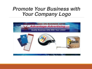 Promote Your Business with Your Company Logo