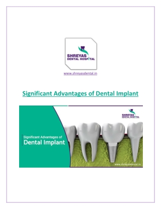Significant Benefits of Dental Implant