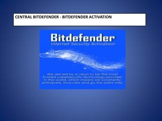 Central.bitdefender.com - Bitdefender Activate Key Code
