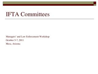 IFTA Committees