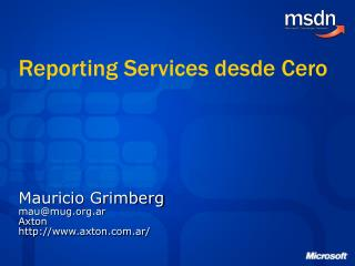Reporting Services desde Cero