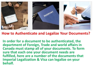 How to Authenticate and Legalize Your Documents?