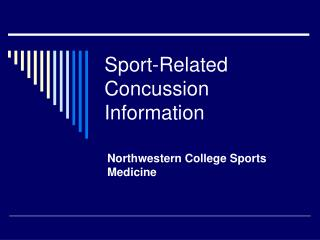 Sport-Related Concussion Information