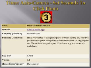 Timer Auto-Camera - Set Seconds To Click Photo