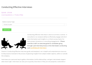 How to conduct effective interviews