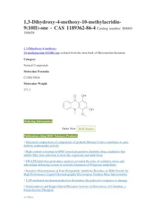 1,3-Dihydroxy-4-methoxy-10-methylacridin-9(10H)-one