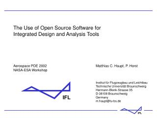 Ppt The Use Of Open Source Software For Integrated Design And Analysis Tools Powerpoint Presentation Id 981662