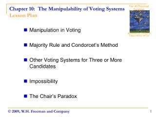 Chapter 10:  The Manipulability of Voting Systems Lesson Plan