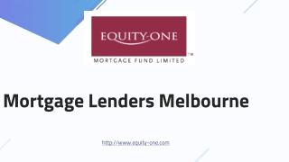 Mortgage Lenders Melbourne