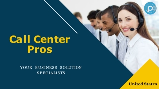 Call Center Outsourcing Services - Call Center Pros