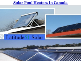 Solar Pool Heaters in Canada