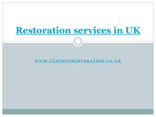 water damage restoration services in the UK