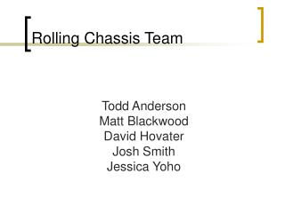 Rolling Chassis Team