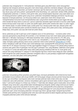Situs Queenpoker99 Online Melimpah Ekstra