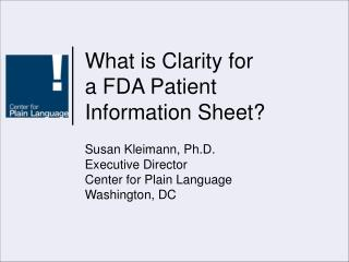What is Clarity for  a FDA Patient Information Sheet?