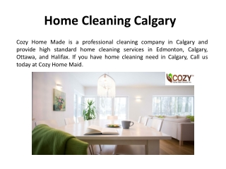 Home Cleaning Services in Ottawa