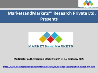 Multifactor Authentication Market