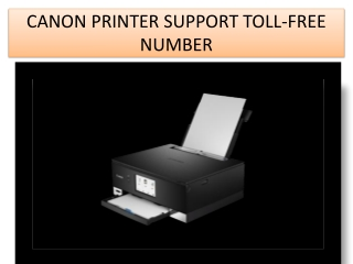 canon printer support toll-free number