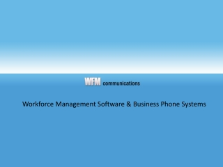 workforce management (wfm) & call center scheduling software