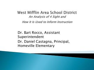 West Mifflin Area School District An Analysis of 4 Sight and  How It Is Used to Inform Instruction