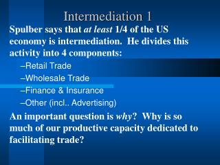 Intermediation 1