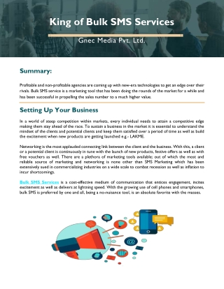 King of Bulk SMS Services