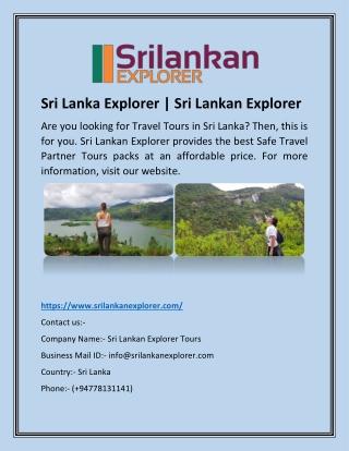 Sri Lanka Explorer | Sri Lankan Explorer