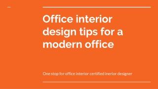 Best Office Interior Design Services