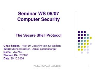 Seminar WS 06/07 Computer Security