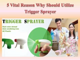 5 Vital Reason Why Should Utilize Trigger Sprayer