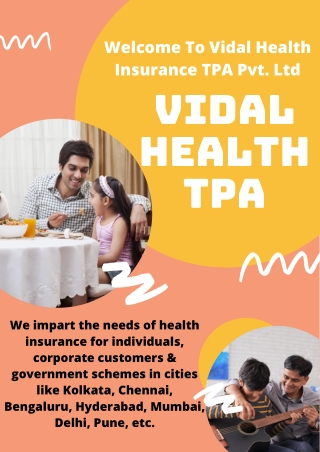 Health Insurance TPA Bengaluru   Vidal Health TPA