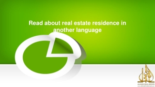Read about real estate residence in another language