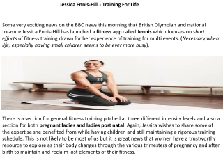 Jessica Ennis-Hill - Training For Life