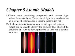 Chapter 5 Atomic Models