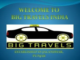 One Way Taxi Service in Jalandhar  91 70093-18308